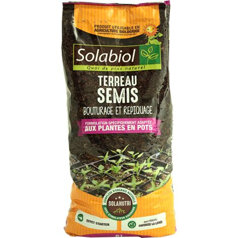Terreau de semis en sac de 6 litres