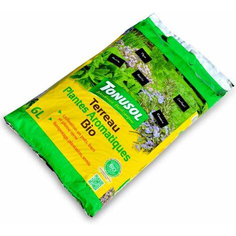 Terreau fertilisé spécial plantes aromatiques. UAB 6 litres
