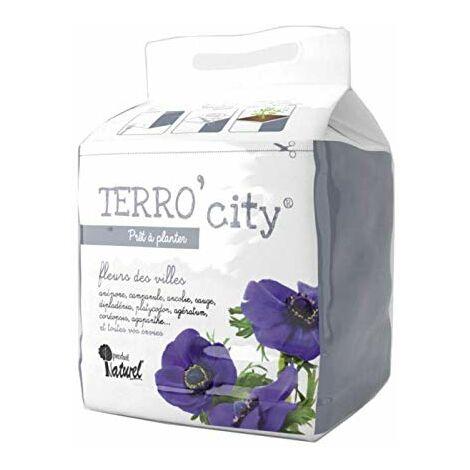 Terreau Fleurs Terro City - révolutionnez Le Jardinage Urbain avec Le terreau Simple et Facile, 3 étapes en 5 Minutes ! (1)