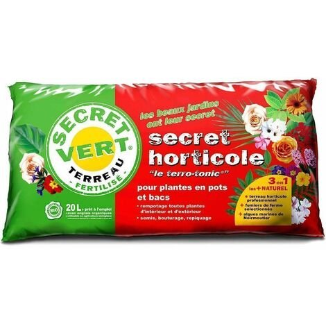 Terreau horticole plantes en pots et bacs Terro-tonic 20 litres