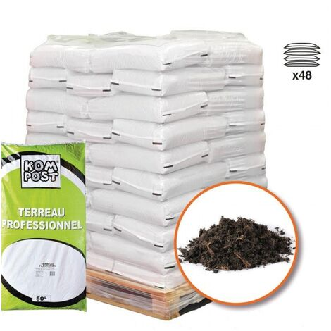 Terreau plantation enrichi en tourbe 48 sacs 50 litres