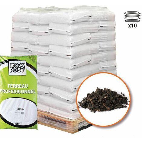 Terreau plantation special enracinement 10 sacs de 50 litres - Brun