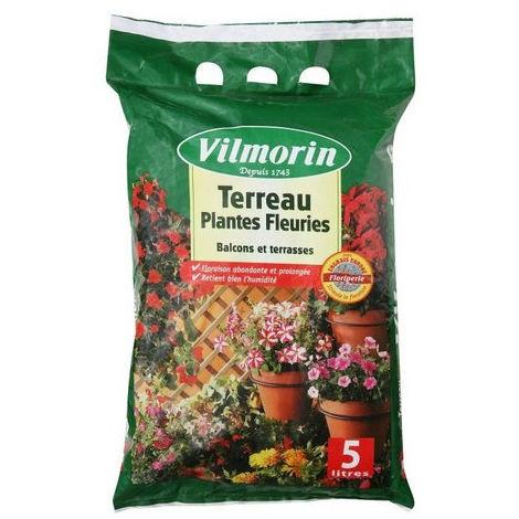 Terreau plantes fleuries vilmorin 5 litres
