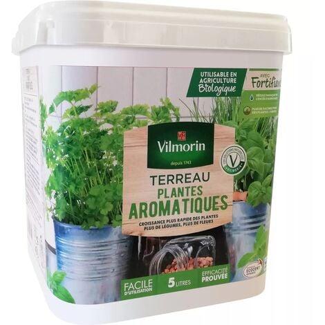 Terreau Pots de Jardinières aromatiques seau de 5 litres