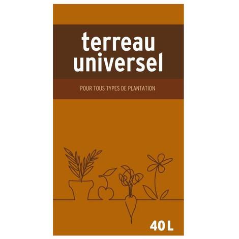Terreau universel pour tous types de plantation - 40L