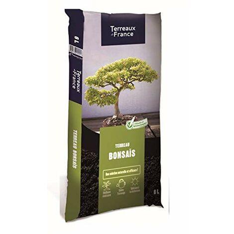 Terreaux de France - Terreau bonsais en 6 litres et 12 litres - Meilleure résistance, Limite l'arrosage, Tolérance à la sècheresse (1)