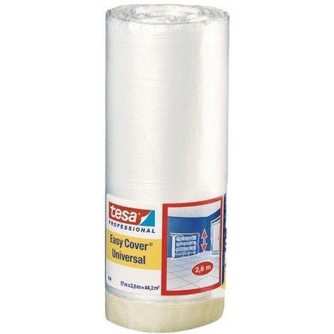 Tesa 04368-00007-01 Adhésif de masquage Easy Cover 4368 Premium 17 m x 2600 mm