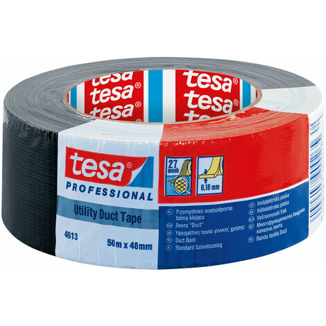 tesa 04613 Professional Utility Duct Tape 48mm x 50m - Black