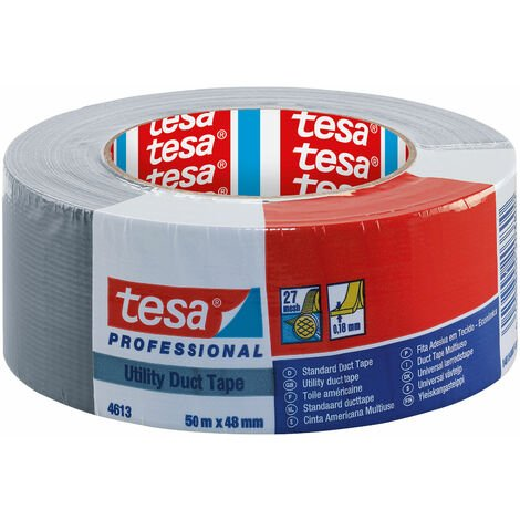 tesa 04613 Professional Utility Duct Tape 48mm x 50m - Silver