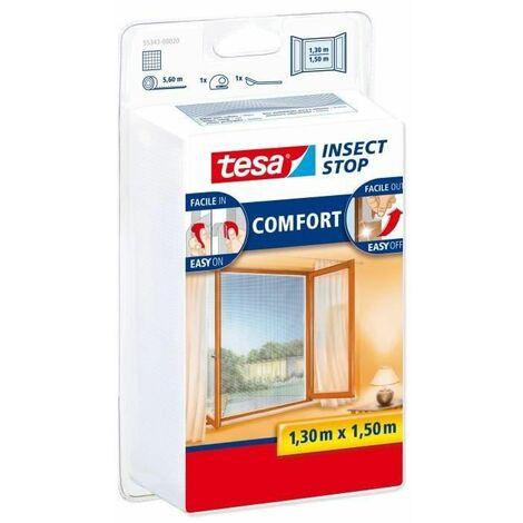 Tesa 55343-00020-00 Moustiquaire pour fenêtre Blanc