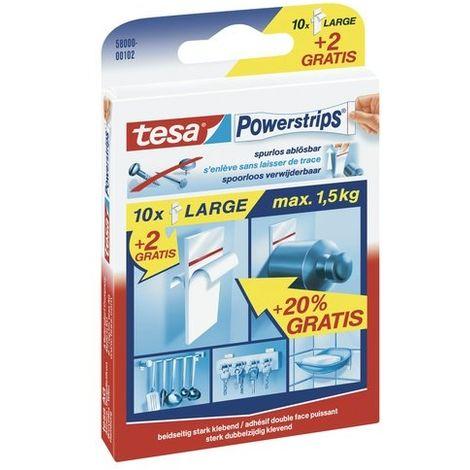 TESA 58000-00102-00 LANGUETTES GRANDES LOT DE 15 BLANC 58000-00102-16