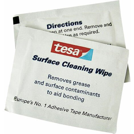 tesa 62992 IPA Surface Cleaning Wipes - 100 Sachets