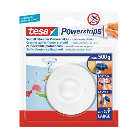 Tesa Deckenhaken Powerstrips® 1 Haken, 2 Strips Large 58029