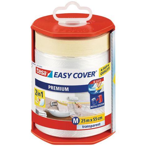 Tesa Easy Cover Premium M cinta de enmascaramiento con desbobinador/lona 33 m x 550 mm (por 6)