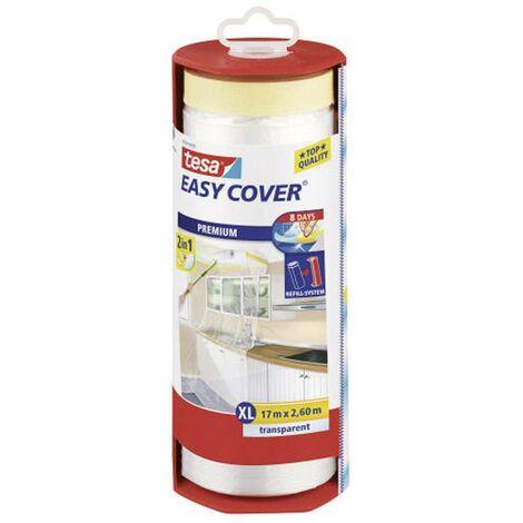 "main image of ""tesa Easy Cover® Premium telo (film) protettivo (L x A) 17 m x 260 cm trasparente 56769 TESA 1 rotolo"""