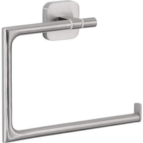 tesa® Esteetic Porte-serviettes anneau, adhésif, acier inoxydable, design esthétique, 154mm x 185mm x 45mm