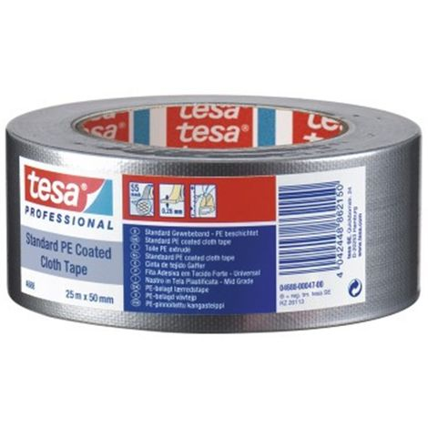 tesa Gaffer Tape 4688 gris 50 Metros x 50 mm 04688-00031-00 (18 unidades)