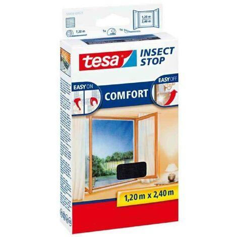 TESA Moustiquaire Comfort pour porte-fenetres - 1,20 m x 2,4 m - Blanc