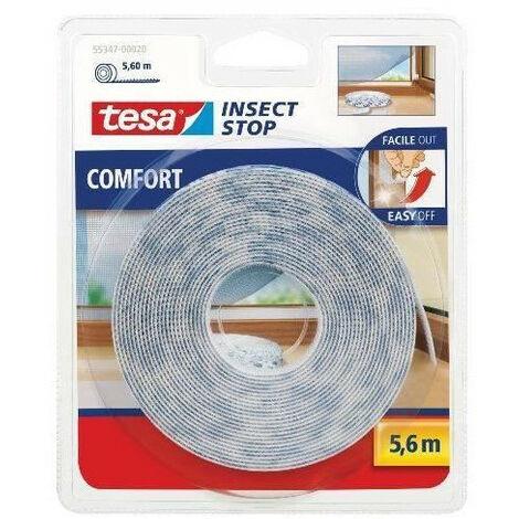 Tesa Comfort Insect Stop moustiquaire pour portes-Anthracite 2 x 0,65 m x 2,5 m