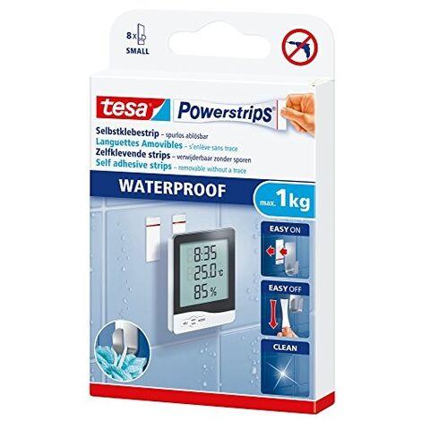 TESA POWERSTRIPS® 59700-00000-00 6 POWERSTRIPS® WATERPROOF + 6 LINGETTES PRIMAIRES