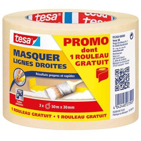 TESA - Ruban adhésif masquage - lot de 3 - 50m x 30 mm