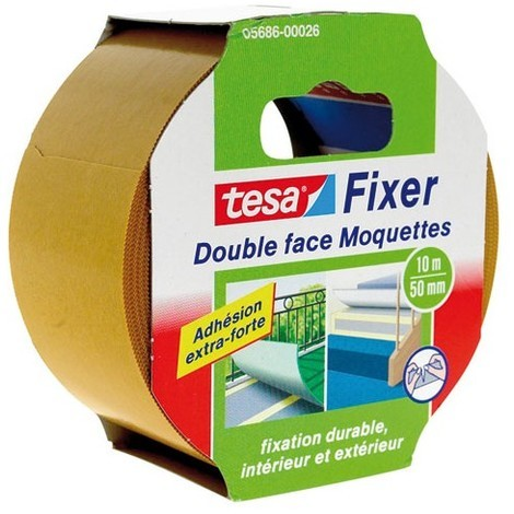 TESA - Ruban adhésif moquette double face - extra forte - 10 m x 50 mm