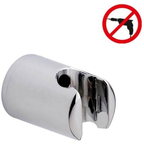 Tesa Spaa Support pour douchette à main, plastique finition chromée, pose facile sans perçage (40343-00000-00)