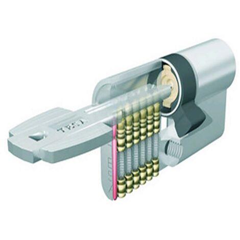 Tesa T6353030L Cylindre de sécurité à came longue 3 clés 30X30Mm laiton T635303030L Tesa T6353030L