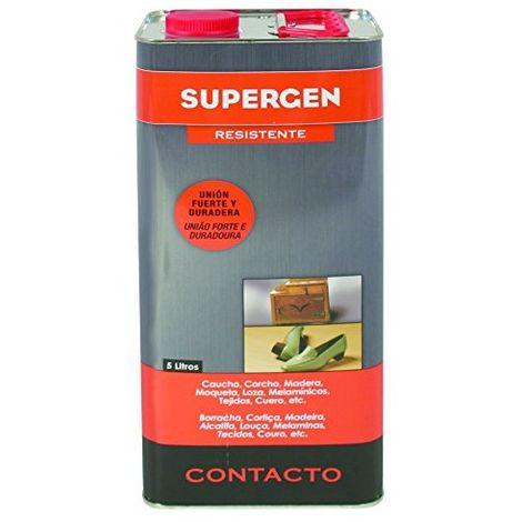 Tesa Tape 62600-00000-10 Supergen adhesivo contacto resistente en lata cuadrada, 5 L