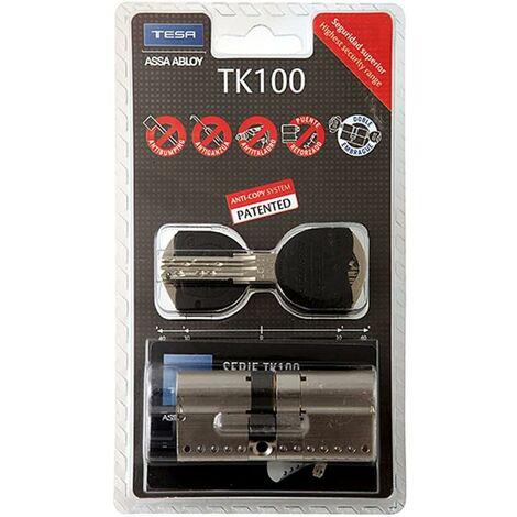 Tesa Tk1Nv53040N Cylindre de sécurité à came longue 30X40Mm Nickel Tk100 Tesa Tk1Nv53040N