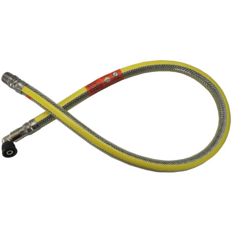 """Tesla 1250mm x 1/2"""" Cooker Hose Micropoint Stainless Steel EN14800 - THUM12"""