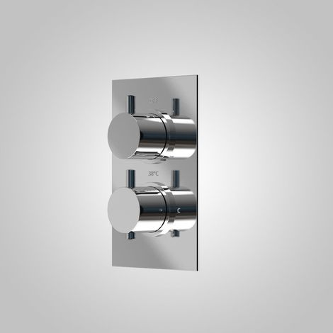 Teslie Modern Round 2 Way Concealed Thermostatic Shower Mixer Valve - Refined Valve