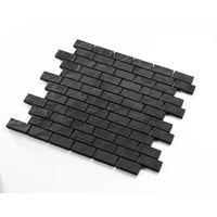 tessera a mosaico, per cucina in ceramica nera a muro mp-boone