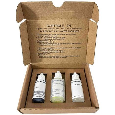 """main image of """"Test TH - Test Dureté Eau Kit Analyse Dureté De L'eau Multi Usage Fabrication Française"""""""