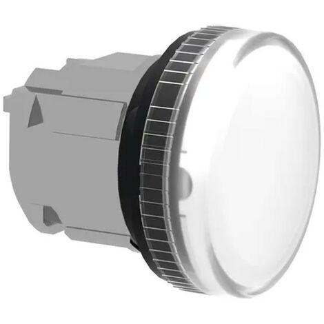 Testa lampada spia Telemecanique Bianca BA9S ZB4BV01