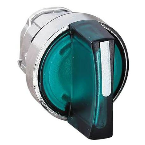 Testa Telemecanique per selettore luminoso a LED Verde ZB4BK1533