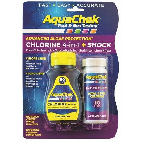 Testeur Aquachek Chlorine 4 en 1 + shock
