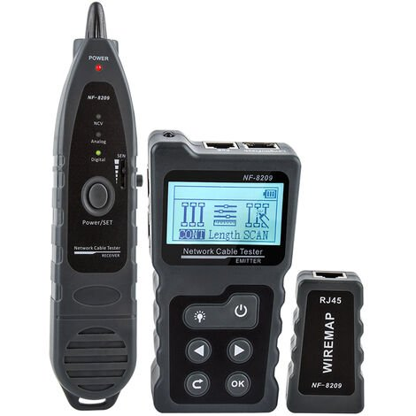 Testeur De Cable Reseau Lcd Multifonctionnel