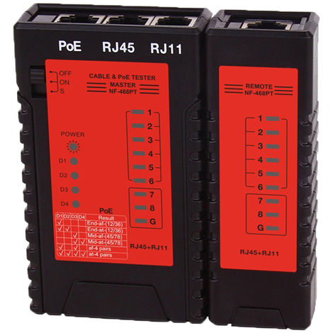 Testeur De Cable Reseau, Pour Outil De Test De Fil De Telephone Fixe Par Cable Lan Ethernet