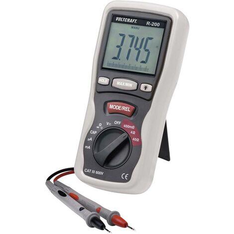 Testeur de composants numérique VOLTCRAFT R- 200 CAT III 600 V Affichage (nombre de points):4000