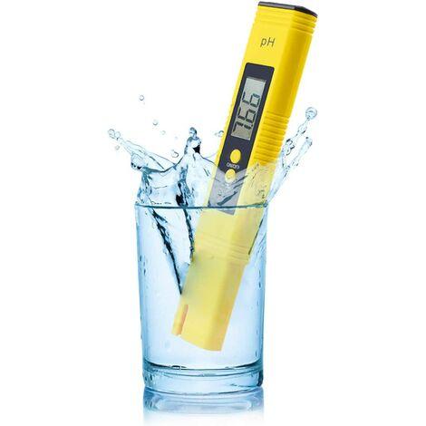 Testeur de pH numérique 0,01 pH haute précision avec plage de mesure de 0 à 14 pH pour la maison, la piscine et l'aquarium