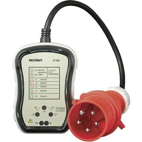 Testeur de prises triphasées CEE 32 A VOLTCRAFT ST-32B Q79794