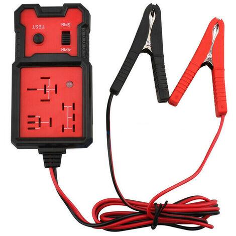Testeur de relais automobile,Auto Relais Outil de Diagnostic,Testeur de Relais Electronique 12V, Voiture Batterie Checker avec Clips