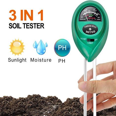 Testeur de sol, humidimètre du sol, testeur de plantes 2 en 1, humidimètre du sol et testeur de pH du sol pour sol végétal, jardin, ferme, pelouse