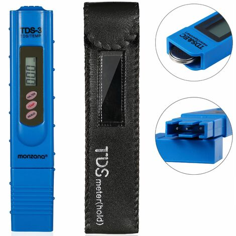 Testeur d''eau pH digitale avec écran LCD avec pile test eau piscine étang spas 2in1 - TDS - Temp