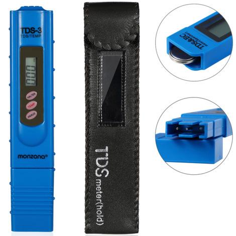 Testeur d''eau 2en1 pH digitale avec écran LCD avec pile test eau piscine étang