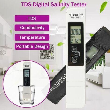 Testeur d'étang de piscine d'eau salée TDS Digital Salinity Temp Tester Meter