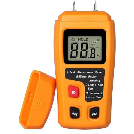 Testeur d'humidité du bois portable testeur d'humidité LCD pour détecteur d'humidité du bois pour la mesure de l'humidité du papier de bois de chauffage, style 2
