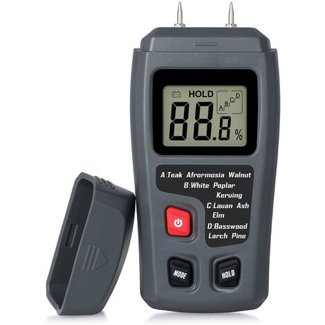 Testeur d'humidité du bois portable testeur d'humidité LCD pour détecteur d'humidité du bois pour la mesure de l'humidité du papier de bois de chauffage,style 1