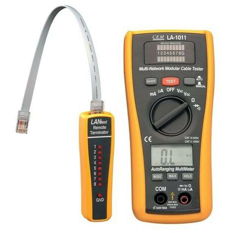 Testeur LAN avec 600V DC/AC Fonctions multimètre AutoRange AutoRange